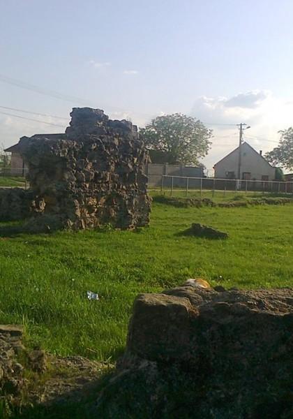 Die Ruinen einer römischen Basilika