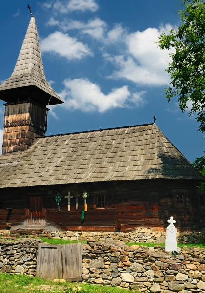 The wooden church from Groșii Noi