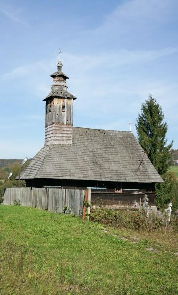 """Die """"Heiliger Cosma und Damian"""" Holzkirche aus Vidra"""
